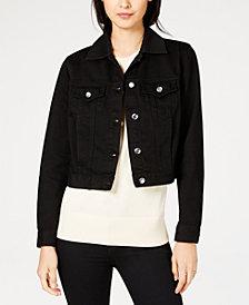 MICHAEL Michael Kors Cotton Cropped Denim Jacket