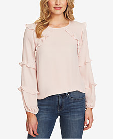 CeCe Long-Sleeve Ruffled Blouse