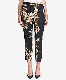 Calvin Klein Floral-Print Tailored Pants