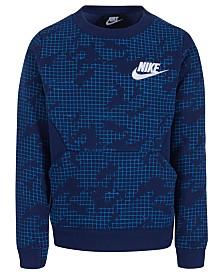 Nike Toddler Boys Printed Fleece Crew-Neck Sweatshirt