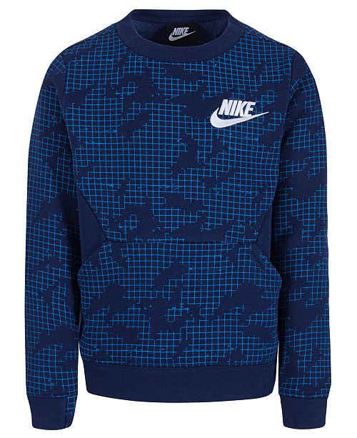Fleece Reviews Boys Printed Crew Toddler Sweatshirtamp; Nike Neck XZkiOuP