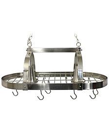 Elegant Designs 2 Light Kitchen Pot Rack with Downlights