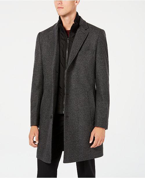 2542d4f0e Hugo Boss Men's Milogan Slim-Fit Overcoat with Removable Bib ...