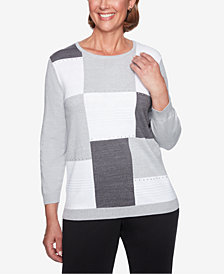 Alfred Dunner Petite Colorblocked Sweater
