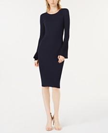 Bar III Bell-Sleeve Sweater Dress, Created for Macy's