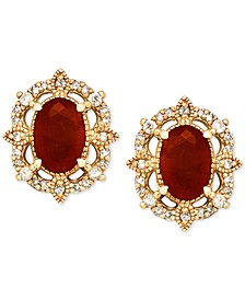 Certified Ruby (1-1/3 ct. t.w.) & Diamond (1/8 ct. t.w.) Stud Earrings in 14k Gold