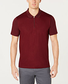 Ryan Seacrest Distinction™ Men's Modern-Fit Quarter-Zip Piqué Polo, Created for Macy's