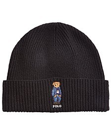 Men's Polo Bear Blue Jean Jacket Cuffed Hat