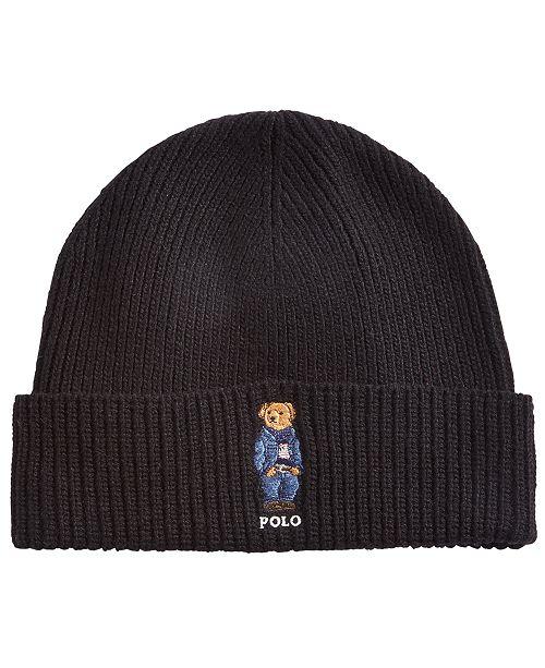59e8822b ... Cuffed Hat; Polo Ralph Lauren Men's Polo Bear Blue Jean Jacket Cuffed  ...