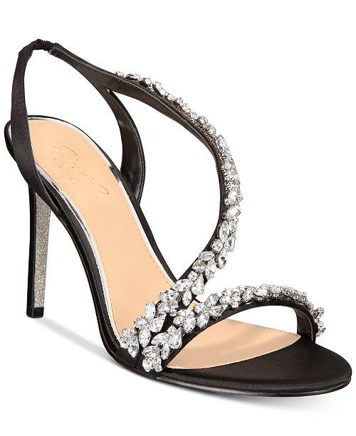 830c6ca42e0 Jewel Badgley Mischka Java Embellished Evening Sandals   Reviews ...