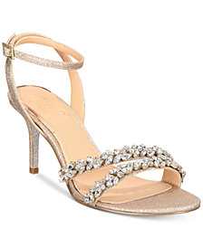Jewel Badgley Mischka Jarrell Embellished Evening Sandals