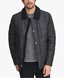 Marc New York Men's Puffer Jacket with Fleece Lining