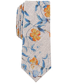 Bar III Men's Acdath Floral Skinny Tie, Created for Macy's