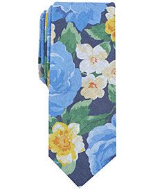 Bar III Men's Faded Floral Skinny Tie, Created for Macy's
