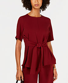 Nine West Tie-Waist Top