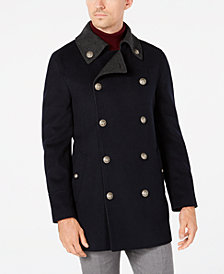 Tallia Men's Slim-Fit Navy Solid Peacoat