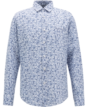 Boss Men's Regular/Classic-Fit Printed Cotton Shirt