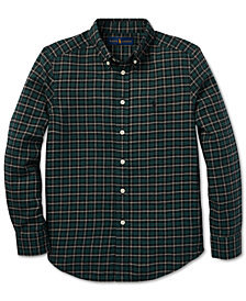 Polo Ralph Lauren Big Boys Plaid Cotton Twill Shirt