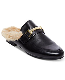Steve Madden Women's Khloe Faux-Fur Tailored Mules
