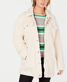 Levi's® Oversized Long Fleece Trucker Jacket