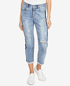 RACHEL Rachel Roy Ripped Cropped Two-Tone Jeans, Created for Macy's