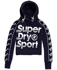 Superdry Cropped Graphic Hoodie