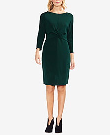 Vince Camuto Twist-Front A-Line Dress