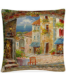 "Rio Capri Isle 16"" x 16"" Decorative Throw Pillow"