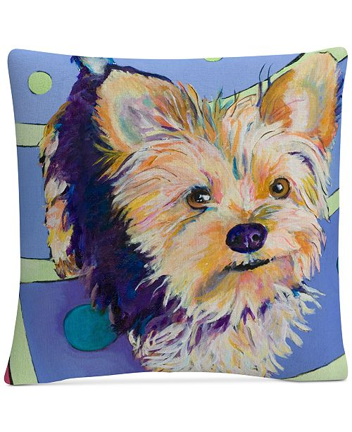 "Baldwin Pat Saunders-White Claire 16"" x 16"" Decorative Throw Pillow"