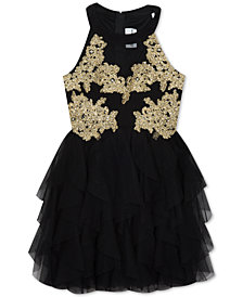 Rare Editions Big Girls Embroidered Bodice Party  Dress