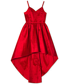 Rare Editions Big Girls Plus Taffeta High-Low Hem Party Dress