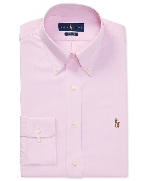 Lauren Men's Polo Oxford Dress Shirt Fit Ralph Classic Cotton 9EH2ID