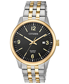 Citizen Men's Quartz Two-Tone Stainless Steel Bracelet Watch, Created for Macy's, 40mm