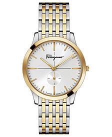 Ferragamo Men's Swiss Slim Formal Two-Tone Stainless Steel Bracelet Watch 40mm