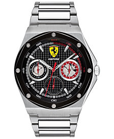 Ferrari Men's Aspire Stainless Steel Bracelet Watch 42mm