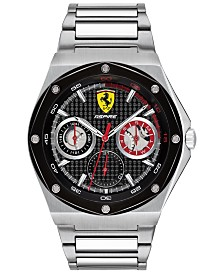 Ferrari Men's Aspire Stainless Steel Bracelet Watch 42mm