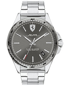Ferrari Men's Pilota Stainless Steel Bracelet Watch 42mm