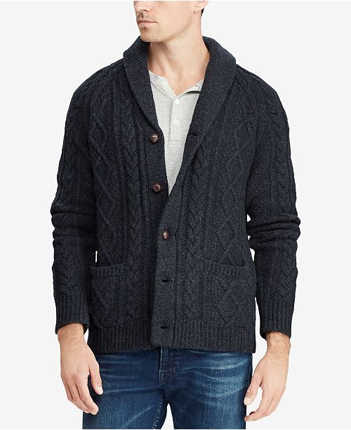 Polo Ralph Lauren Mens Cable Knit Cardigan Sweater Sweaters Men