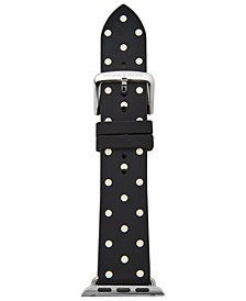 Women's Black with White Dot Silicone Apple Watch® Strap