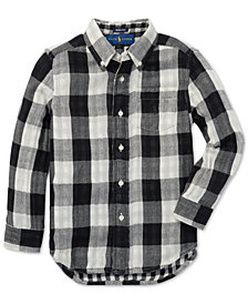 Polo Ralph Lauren Little Boys Reversible Plaid Cotton Shirt