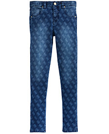 GUESS Big Girls Super Skinny Logo Jeans