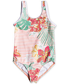 Roxy Little Girls Floral-Print Swimsuit
