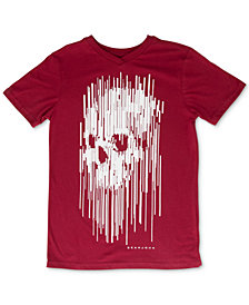 Sean John Big Boys Stretched Pixel Skull Graphic T-Shirt