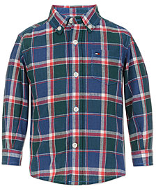 Tommy Hilfiger Little Boys John Plaid Shirt