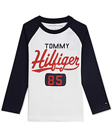 Tommy Hilfiger Little Boys Raglan Graphic Shirt