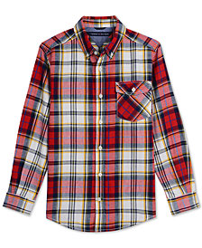 Tommy Hilfiger Big Boys' Tristan Plaid Shirt