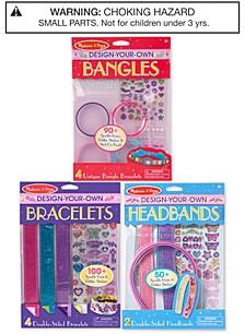 Melissa & Doug Design-Your-Own Bracelets, Headbands & Bangles Accessories Bundle