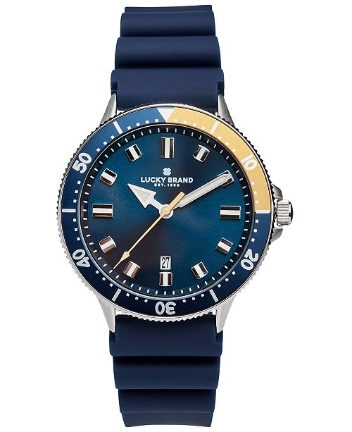 Lucky Brand Men's Dillon Sport Navy Silicone Strap Watch 42mm