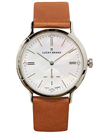 Lucky Brand Women's Ventana Tan Leather Strap Watch 34mm