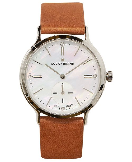 dc8ae234fba4 Lucky Brand Women s Ventana Tan Leather Strap Watch 34mm   Reviews ...